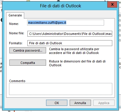 Compattazione File Outlook